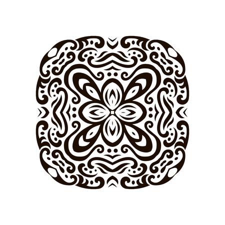 抽象的な一時的な刺青タトゥー飾りのベクトル イラスト