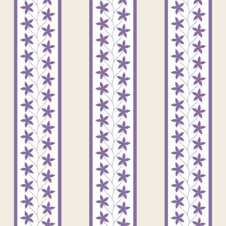 ビンテージのシームレス花柄  イラスト・ベクター素材