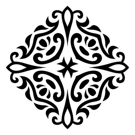抽象的な一時的な刺青入れ墨飾りのベクトル イラスト  イラスト・ベクター素材