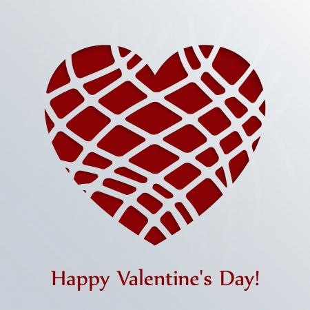 Creative paper heart illustration for your own design. Illustration