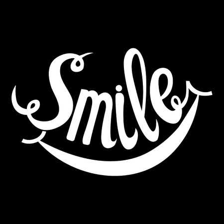 Smile. Hand Drawn Inspiration Phrase. Vector Lettering Stock Photo