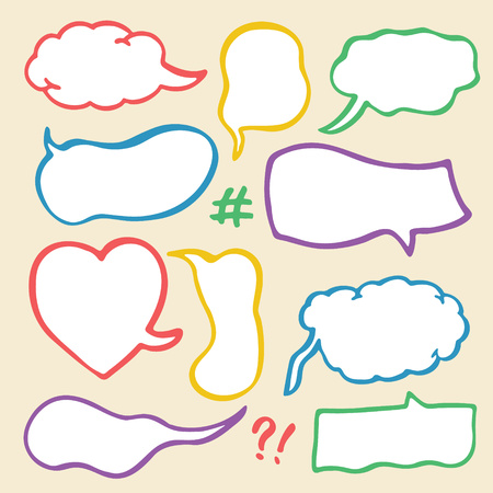 Set of Sketched Speech Bubbles