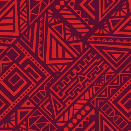 Creatief Etnische Stijl Vierkant Naadloos Patroon. Unieke geometrische vectorzwarts. Ideaal voor de achtergrond van de site, verpakkingspapier, behang, textiel en oppervlakte-ontwerp. Trendy boho tegel.