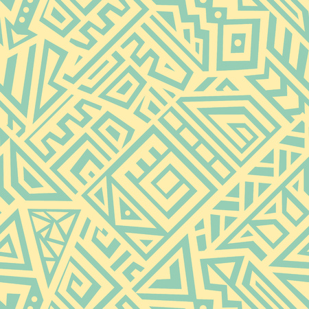 Seamless Vector Texture in Ethnic Style. Geometric endless ornament perfect for fabric, textile, t-shirt, business card and greeting card design. Фото со стока - 77170732