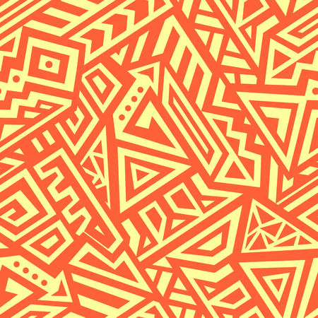 Creative Ethnic Style Square Seamless Pattern. Unique geometric vector swatch. Perfect for site backdrop, wrapping paper, wallpaper, textile and surface design. Trendy boho tile.