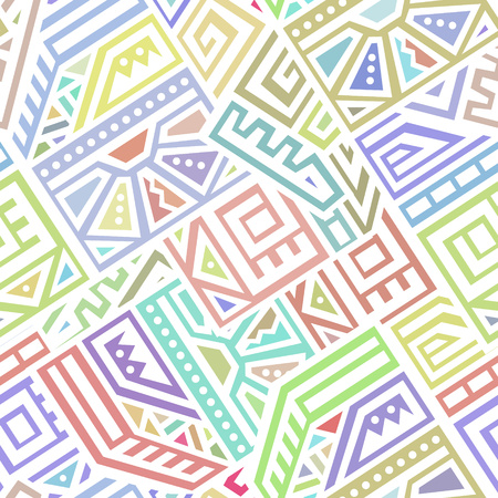 Seamless Vector Texture in Ethnic Style. Geometric endless ornament perfect for fabric, textile, t-shirt, business card and greeting card design.