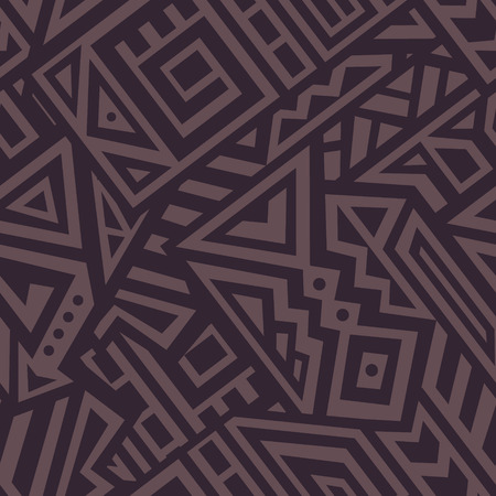 Creative Ethnic Style Square Seamless Pattern. Unique geometric swatch. Perfect for site backdrop, wrapping paper, wallpaper, textile and surface design. Trendy boho tile.