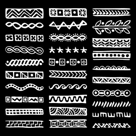 Set of Hand Drawn Vector Dividers
