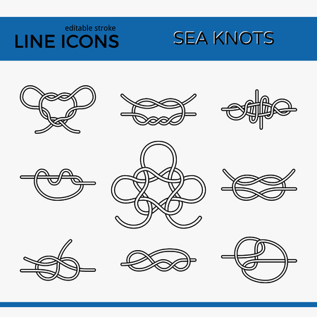 Icons of Sea Knot Collection. Illustration