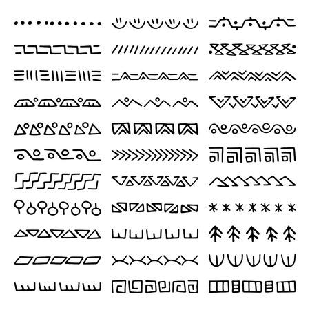Hand drawn vector dividers. Set of borders for your blog posts decor. Decorative lines for restaurant menu design. Illustration