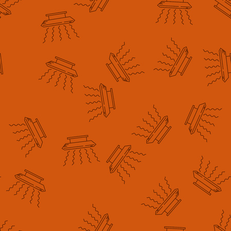 Modern Style House Heating Theme Vector Seamless Pattern. Perfect for site background, package and other endless fill. Illusztráció