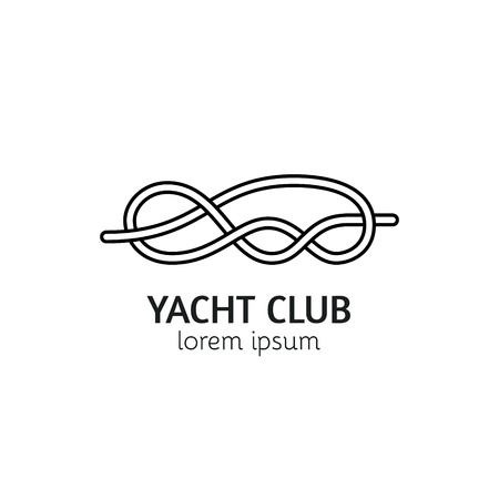 Unique line style template with sea knot. Editable stroke icon. Clean and minimalist symbol perfect for your business. Illustration