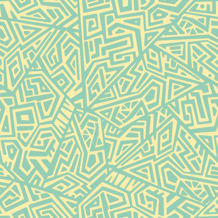 Creative ethnic style square seamless pattern. Unique geometric vector swatch. Perfect for screen background, site backdrop, wrapping paper, wallpaper, textile and surface design. Trendy boho tile. Illustration