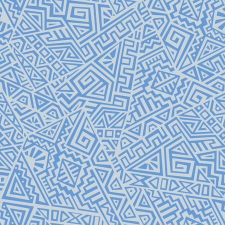 Creative Ethnic Style Square Seamless Pattern. Unique geometric vector swatch. Perfect for screen background, site backdrop, wrapping paper, wallpaper, textile and surface design. Trendy boho tile.