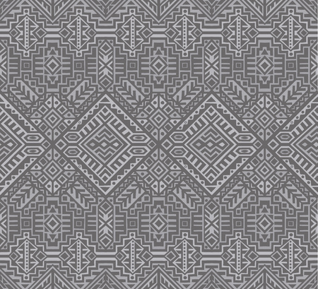 Simmetric seamless pattern in ethnic style. Tribal geometric ornament, perfect for textile design, site background, wrapping paper and other endless fill. Trendy boho tile. Stock fotó - 111793823