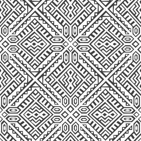Geometric seamless pattern created in trendy ethnic style. Unique boho tile. Perfect for textile design, wrapping paper, wallpaper, site backdrop and screens background.