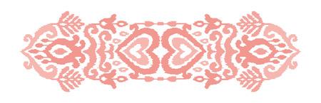 Ethnic vector illustration. Ikat textile stylized. Eastern embroidery tile. Indian Scandinavian Mexican Pakistan woven ornament. Standard-Bild - 125278972