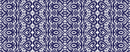 Ethnic vector seamless pattern. Ikat textile stylized. Eastern embroidery tile. Indian Scandinavian Mexican Pakistan woven ornament. Illustration