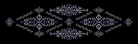 Ethnic style vector illustration African ornament Polynesian handicraft Scandinav embroidery