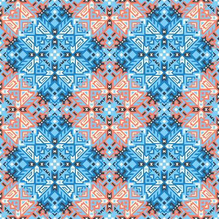 Abstract geometric seamless pattern. Unique scandinavian design. Ethnic style repeat background. Creative tribal vector ornament. Trendy art tile. Иллюстрация