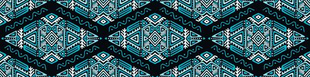 Seamless Pattern in Ethnic Style. Trendy hand drawn boho tile. Creative tribal endless ornament, perfect for textile design, wrapping paper, wallpaper or site background. Standard-Bild - 127898713
