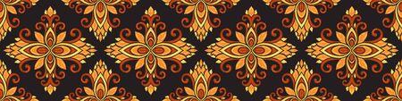 Azulejos ceramic tile design. Talavera tracery motif. Unique creative endless fill swatch. Portuguese, Spanish, Mexican, Brazilian folklore ornament. Standard-Bild - 127898711