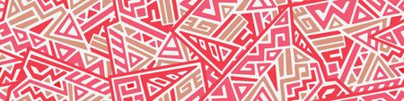 Creative ethnic style seamless pattern. Standard-Bild - 127898718