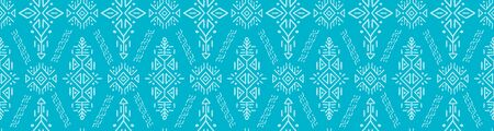 Seamless Pattern in Ethnic Style. Trendy hand drawn boho tile. Standard-Bild - 127898716