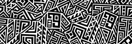 Creative ethnic style seamless pattern. Standard-Bild - 127898720
