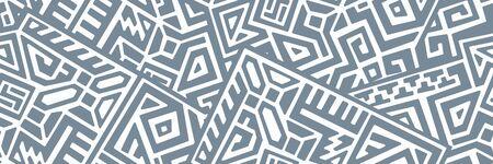 Creative ethnic style seamless pattern.