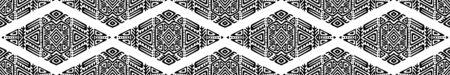 Seamless Pattern in Ethnic Style. Trendy hand drawn boho tile. Standard-Bild - 127898725