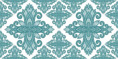 Azulejos ceramic tile design. Talavera tracery motif. Ilustração