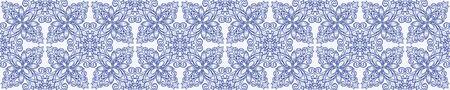 Azulejos ceramic tile design. Talavera tracery motif. Unique creative endless fill swatch. Ilustração