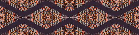 Seamless Pattern in Ethnic Style. Trendy hand drawn boho tile. Standard-Bild - 127899105