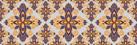 Azulejos ceramic tile design. Talavera tracery motif. 일러스트