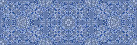 Azulejos ceramic tile design. Talavera tracery motif. Standard-Bild - 127899112