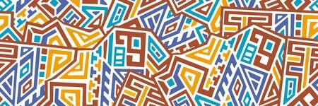 Creative ethnic style vector seamless pattern. Ilustração