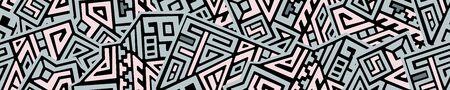 Creative ethnic style seamless pattern. Standard-Bild - 127899121