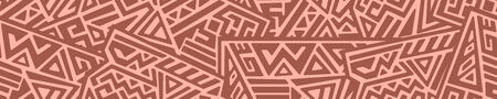Creative ethnic style seamless pattern.