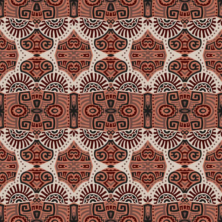 Abstract Ethnic Vector Seamless Pattern. Trendy boho tile. African textile design. Scandinavian ornament. Perfect for wallpaper, cloth, wrapping paper and other endless fill.