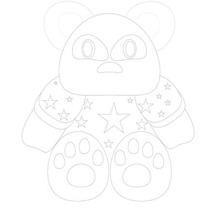 a bear colouring page illustration  illustration