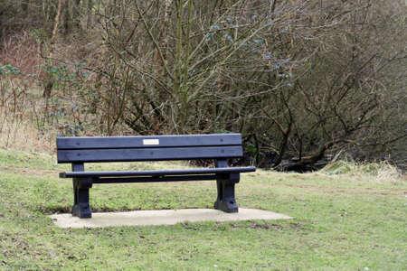 a park bench photo