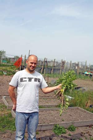man gardening photo