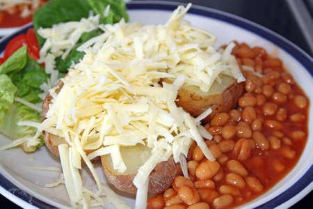 jacket potatoes and beans  photo