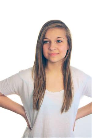 girl in studio Stock Photo