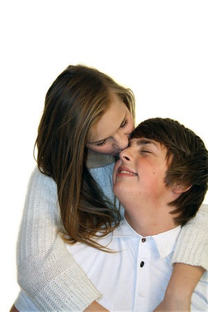 teenagers kissing photo