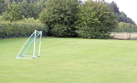 football net on a field  photo