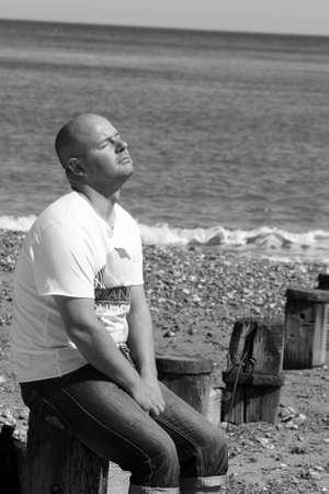 man near the sea Stock Photo