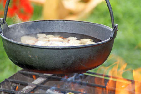 cooking outdoors photo