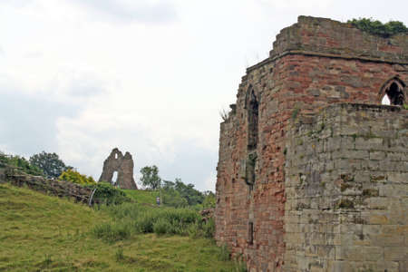 castle ruins at tutbury castle derbyshire england photo